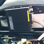 Base unit mounted under seat.